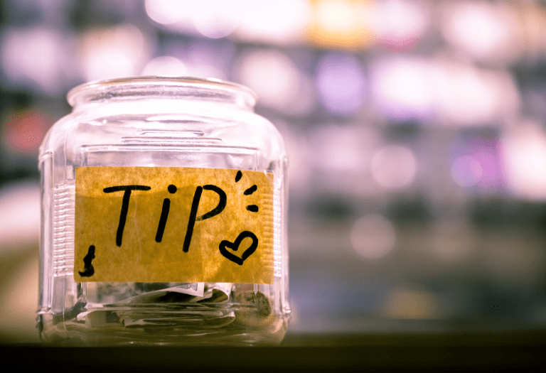 photo of tip jar