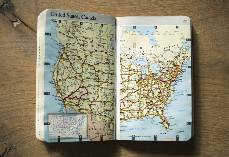 photo of US map