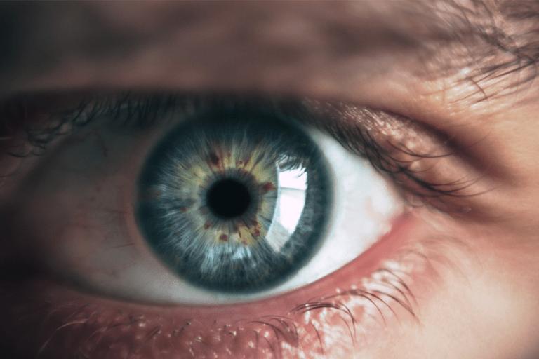 close view of a human eye